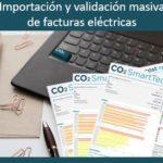Importación y validación masiva de facturas eléctricas.